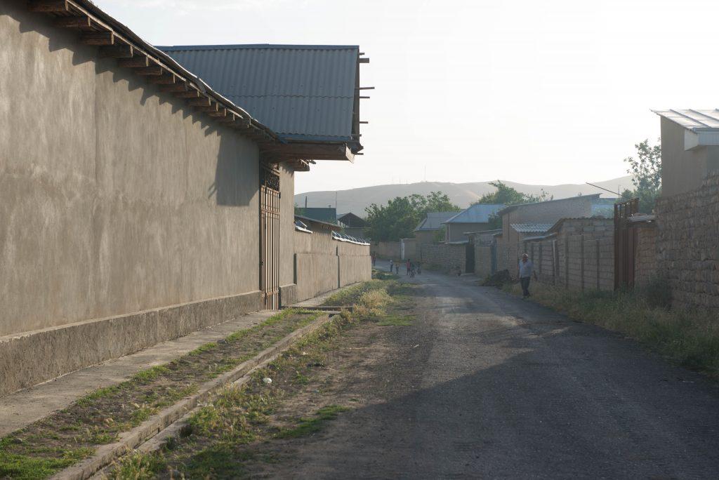 バイスンの町。殺風景な通り。